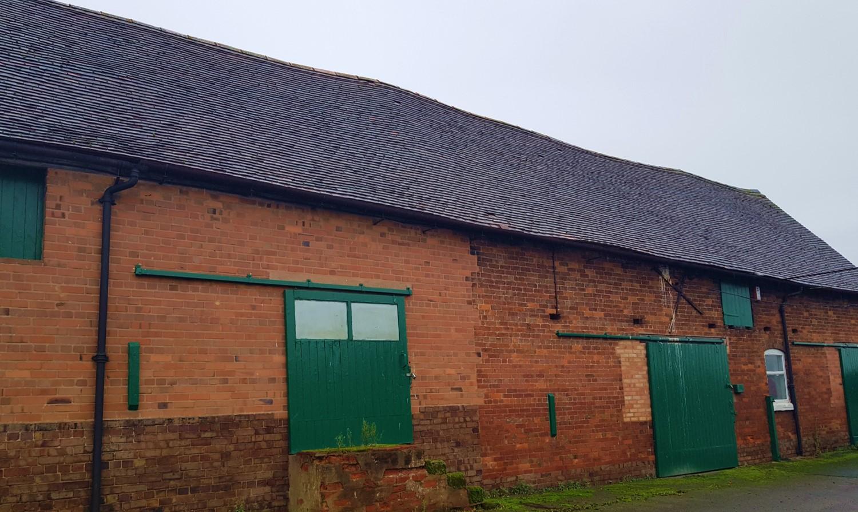 Barn beside main building