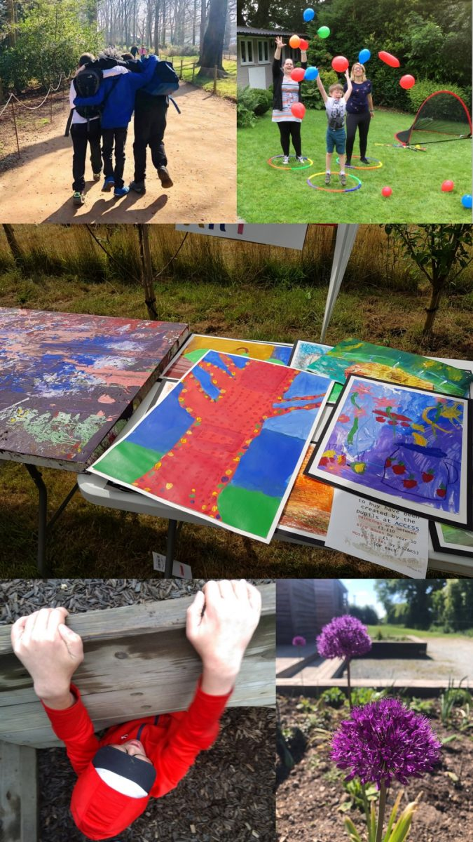 Working with young people, activities, flower, art